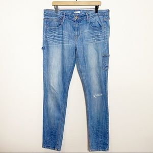 [Levi's] Distressed Boyfriend Skinny Jeans